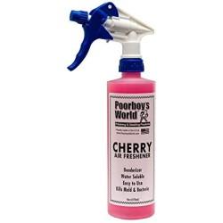 CHERRY AIR FRESHENER 473ML - POORBOY'S  POORBOY'S WORLD CERISE 946ml- NEUTRALISANT ET FRAICHEUR D'ODEUR Un assainisseur d'air qu