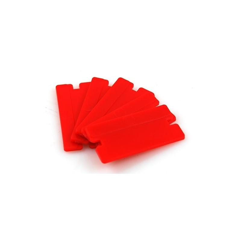 LAME PLASTIQUE x4  Lames de gratte vitre en plastique à double tranchant Lot de 4 lames SAS La Boutique JPLVAD