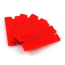 KIT 20 LAMES PLASTIQUES  Lames de gratte vitre en plastique à double tranchant Lot de 20 lames SAS La Boutique JPLVAD