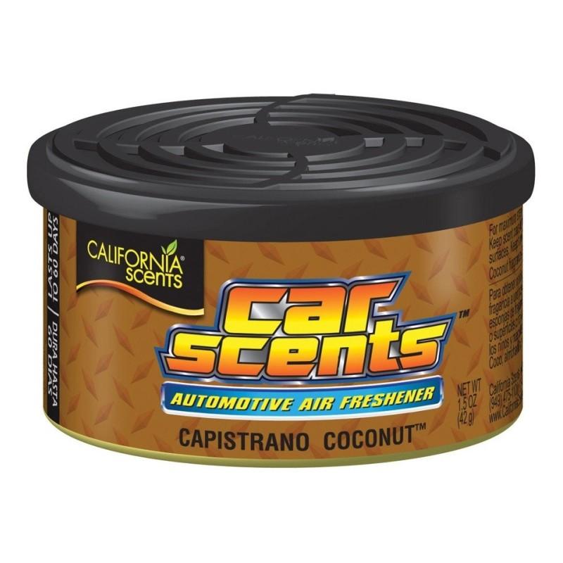 CAPISTRANO COCONUT - CALIFORNIA SCENTS  Califonia Scentsvous propose différents diffuseurs d'odeur pour la voiture. Les boites