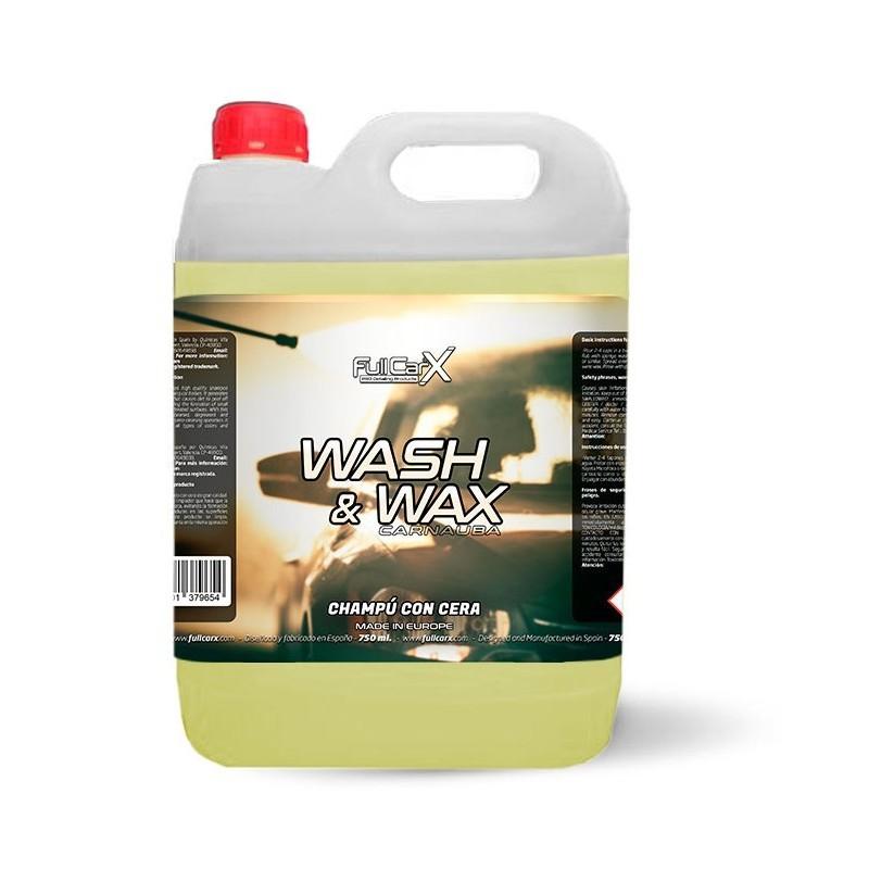 WASH & WAX (SHAMPOING AVEC CIRE) 5L - FULLCARX  Shampooing de qualité supérieure avec cire SAS La Boutique JPLVAD FullCarX