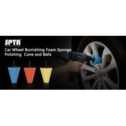 KIT 3 PADS JANTES - SPTA  Pad de polish à utiliser sur perceuse/visseuse idéals aussi pour les endroits inaccessibles. SAS La Bo